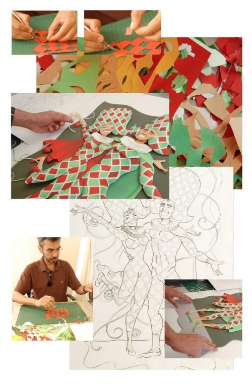 Carlos Meira делает свои картины из бумаги (32 работ)