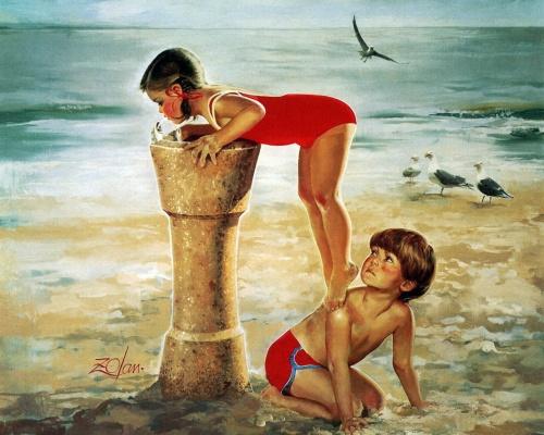 Дети в работах Donald Zolan (45 работ)