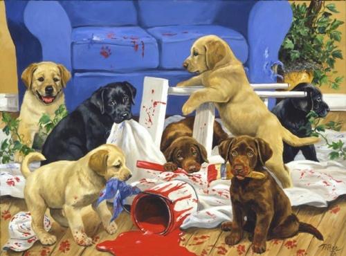 Животные в работах Linda Picken (92 работ)