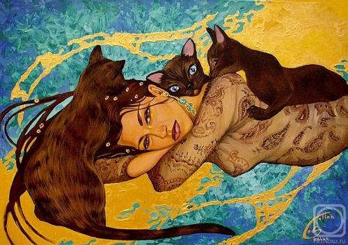 Женщины-кошки от Fattah Hallah Abdel (31 работ)