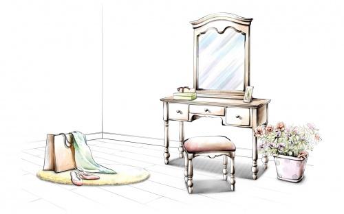 Hand drawing interior (40 работ)