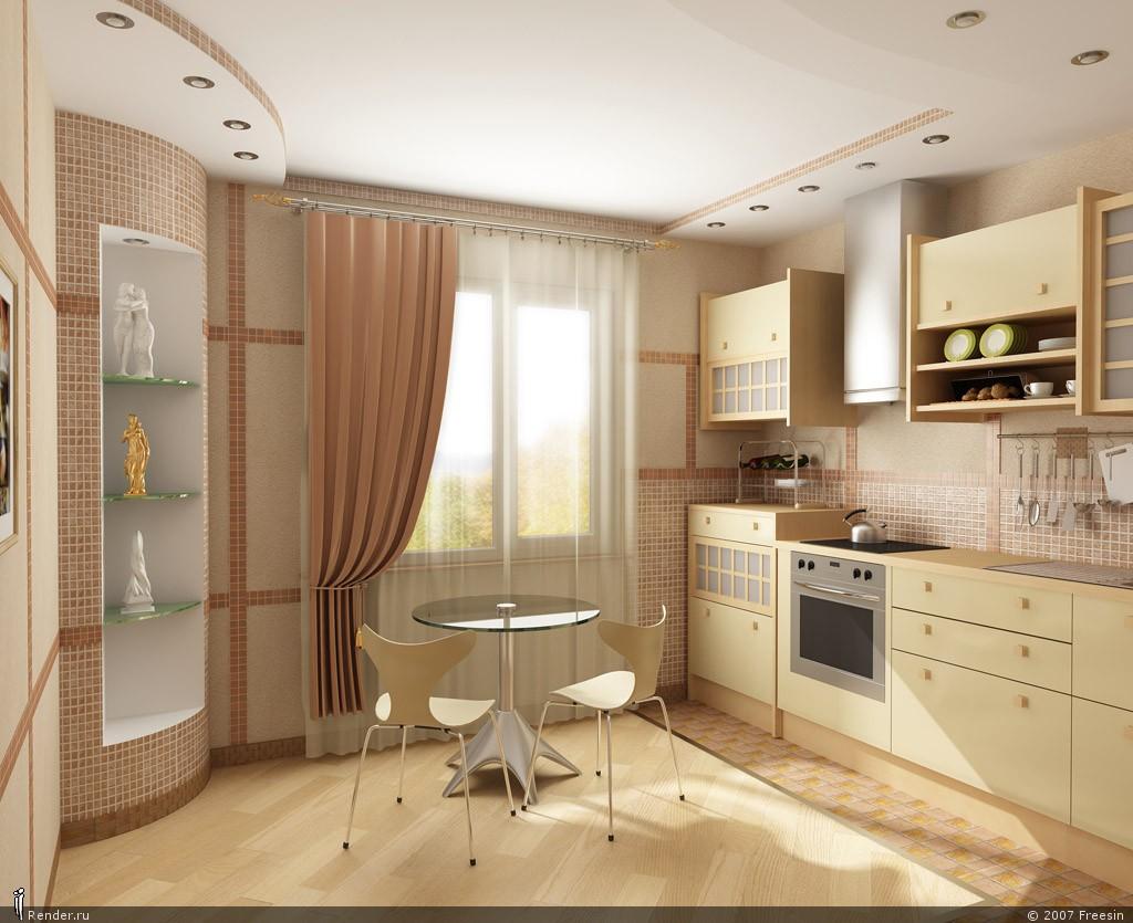 Проект кухня гостинная с балконом. - металлопластиковые окна.