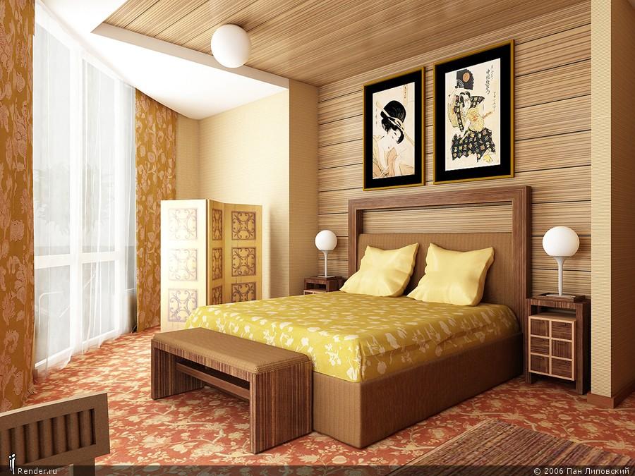 Обыкновенные спальни интерьер