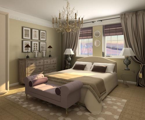 Дизайн г образной спальни