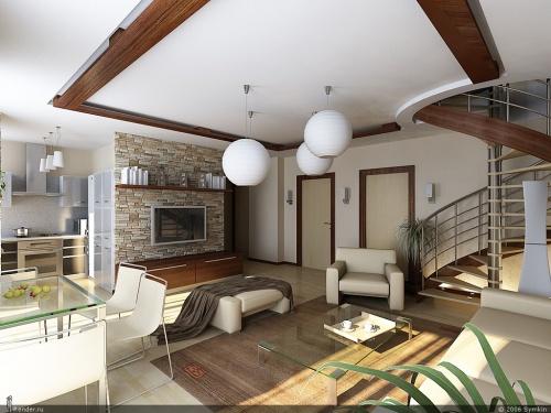 Отделка дизайна дома