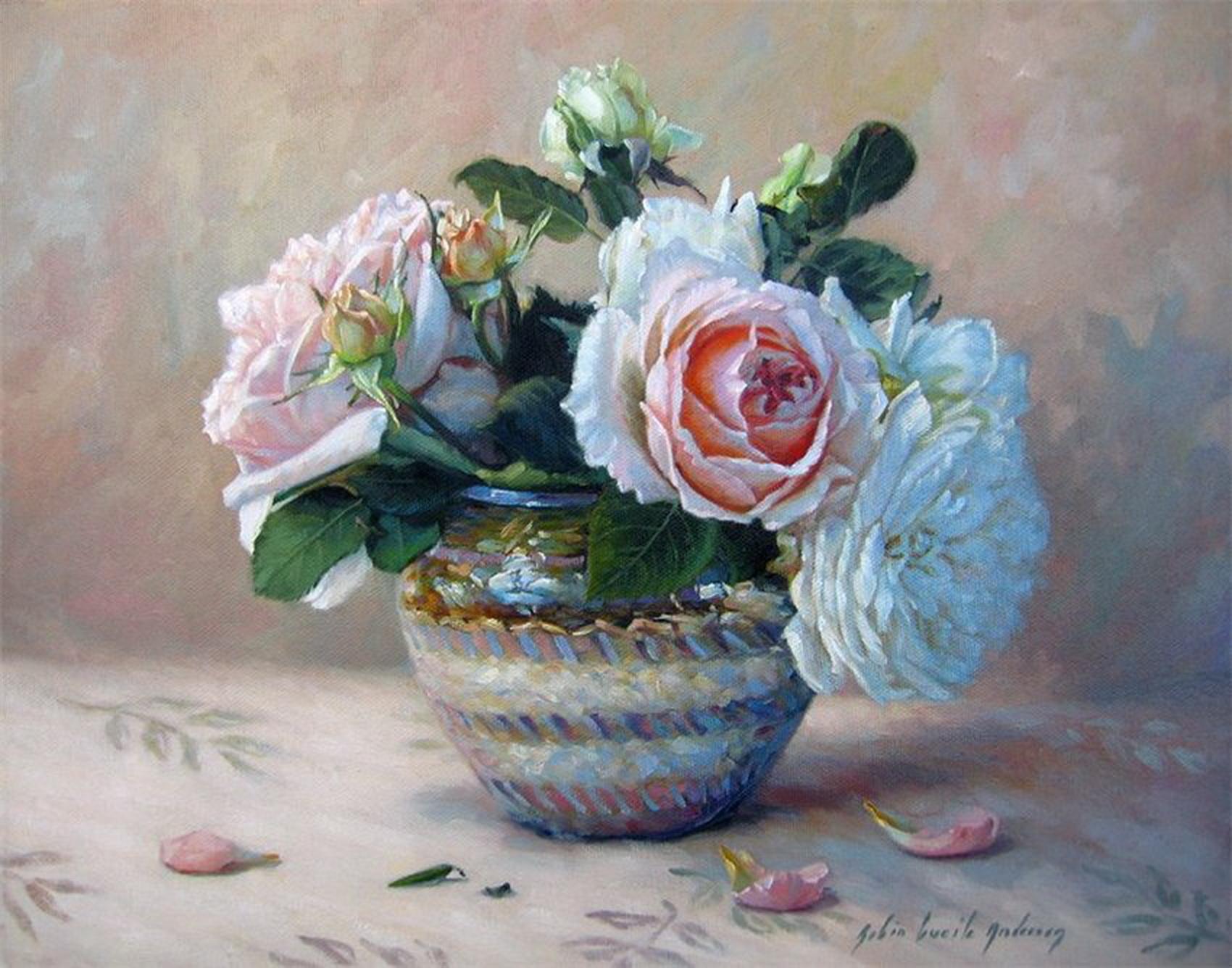 цветочный натюрморт: