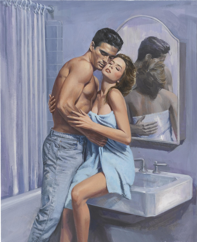 Why do romance novels have half naked men