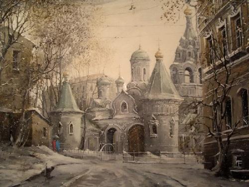 Картины Александра Стародубова. Старая Москва (32 работ)