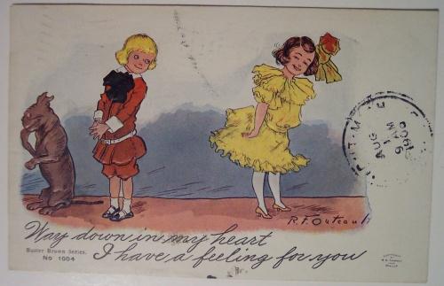 Старые открытки влюбленных (открытки)