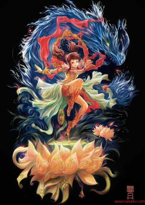 Фантастика в работах Ruian Lv (22 работ)