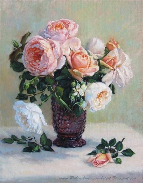 Цветочные натюрморты Robin Lucile Anderson (36 работ)