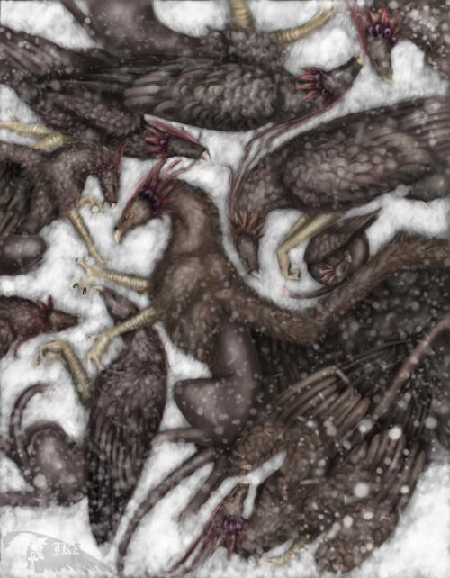 Рисованные грифоны... (42 работ)
