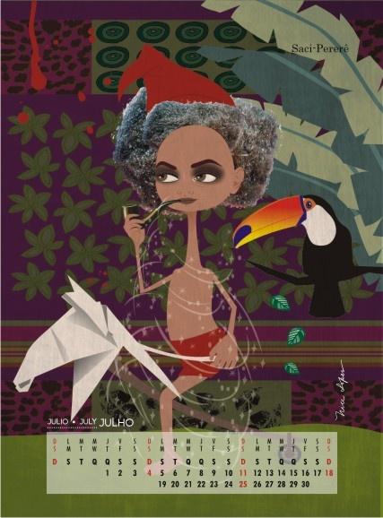Иллюстратор Nice Lopes | календарь 2010 (14 работ)