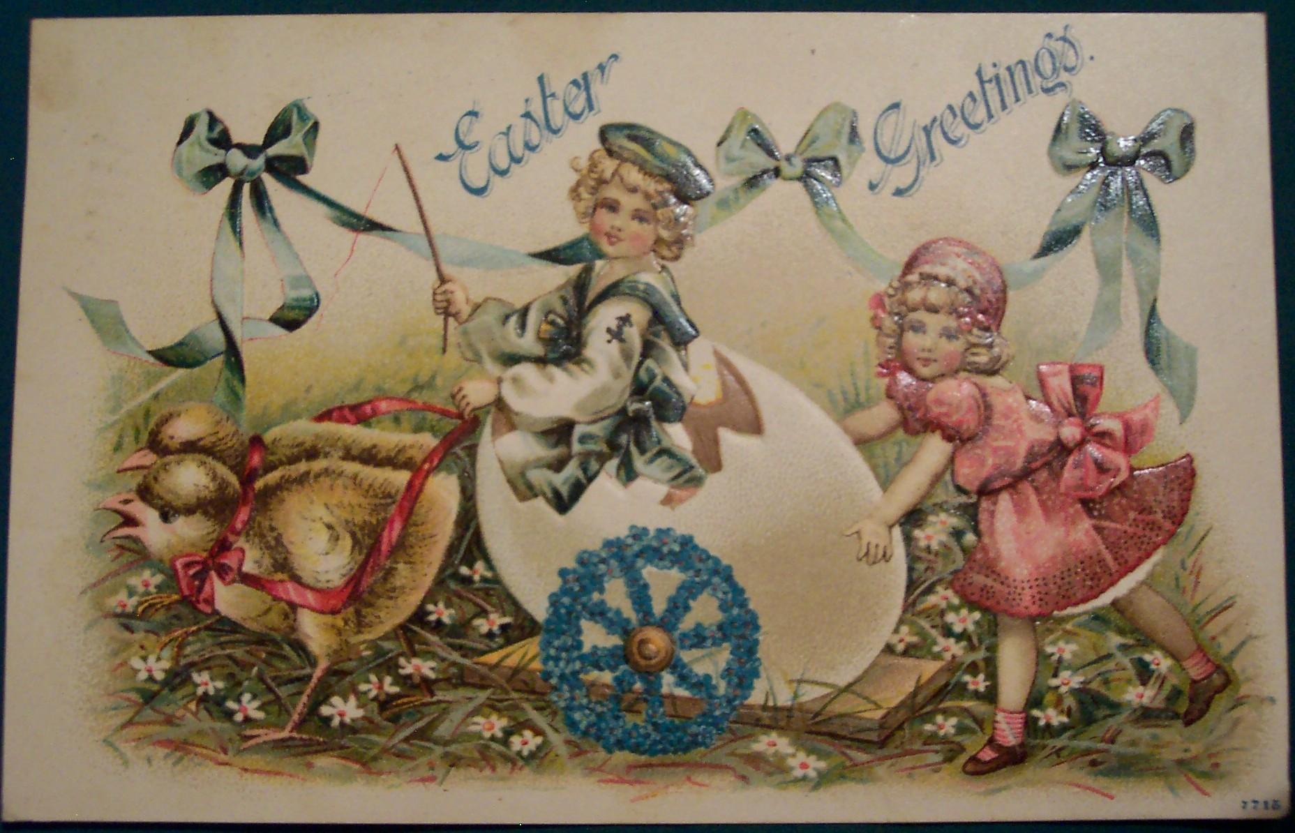 Старые рождественские открытки (91 фото) 53