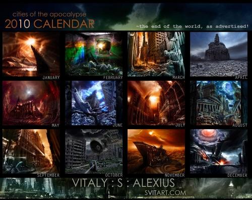 Календарь на 2010 от Vitaly S. Alexius (12 работ)