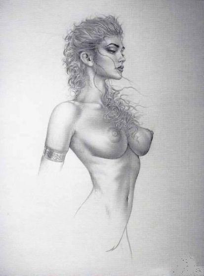 рисунок карандашом девушка обнаженная