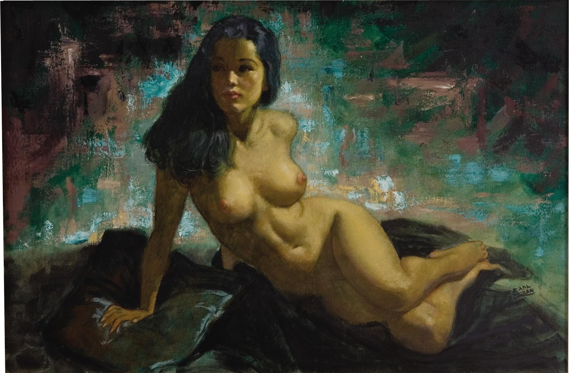 Художник рисует голую девушку 2 фотография