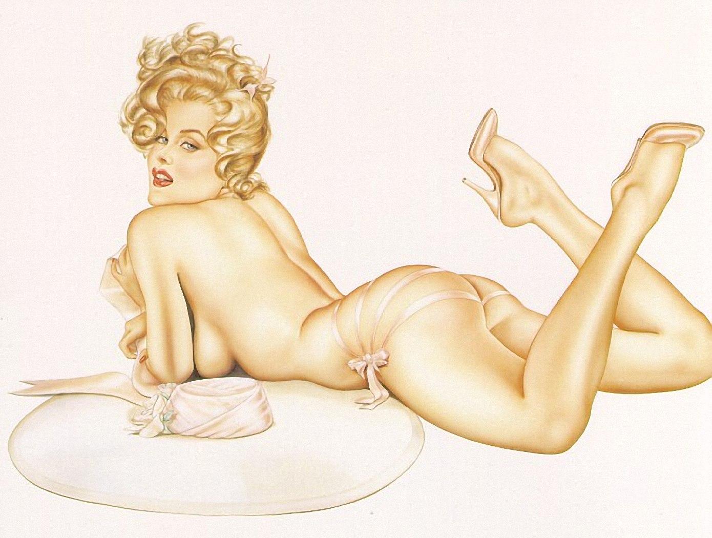 Рисовать фото эротика, Рисунки голых девушек - эротические картинки 4 фотография