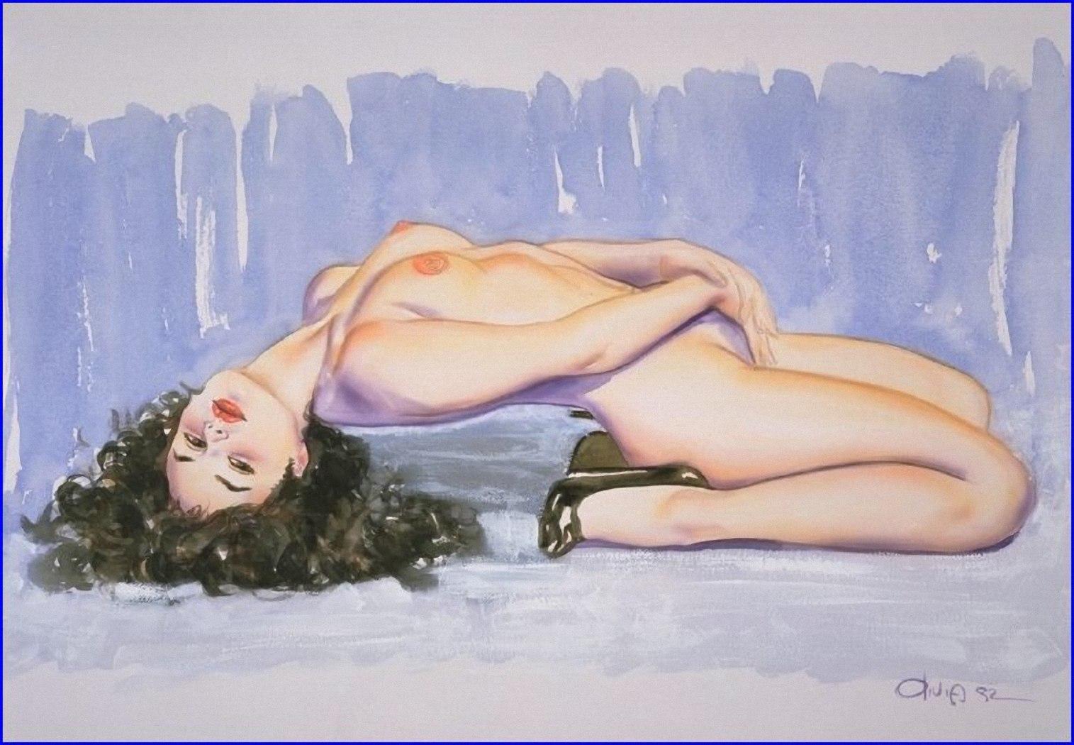 Эротические картинки срисовать, Секс в рисунках. - Рисованная эротика 4 фотография