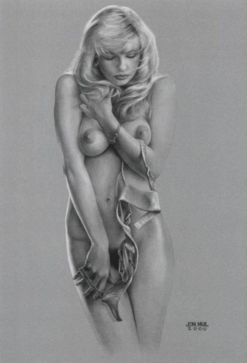 Рисунки голых девушек карандашом голых