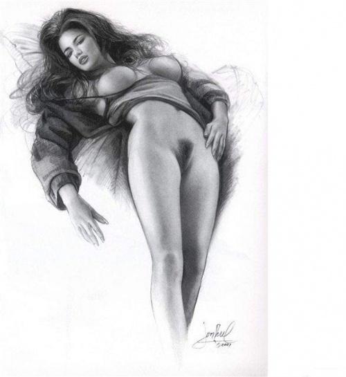реалистичные эротические рисунки