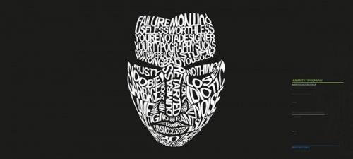 Портреты из шрифтов (45 работ)