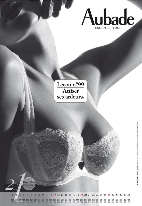 Aubade – Official Calendar 2010 (13 фото)