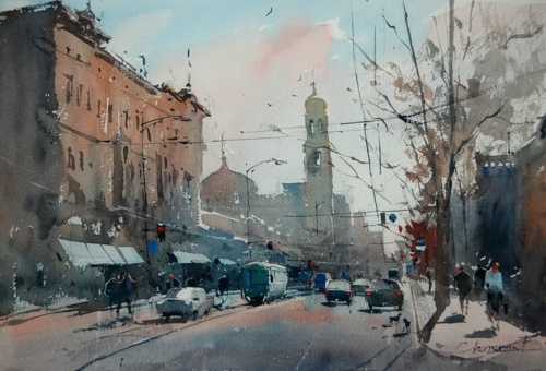 Художник Евгений Кисинчан - Городской пейзаж (41 работ)