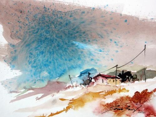 Художник Joan Puig Bertran - Акварельные зарисовки (24 работ)