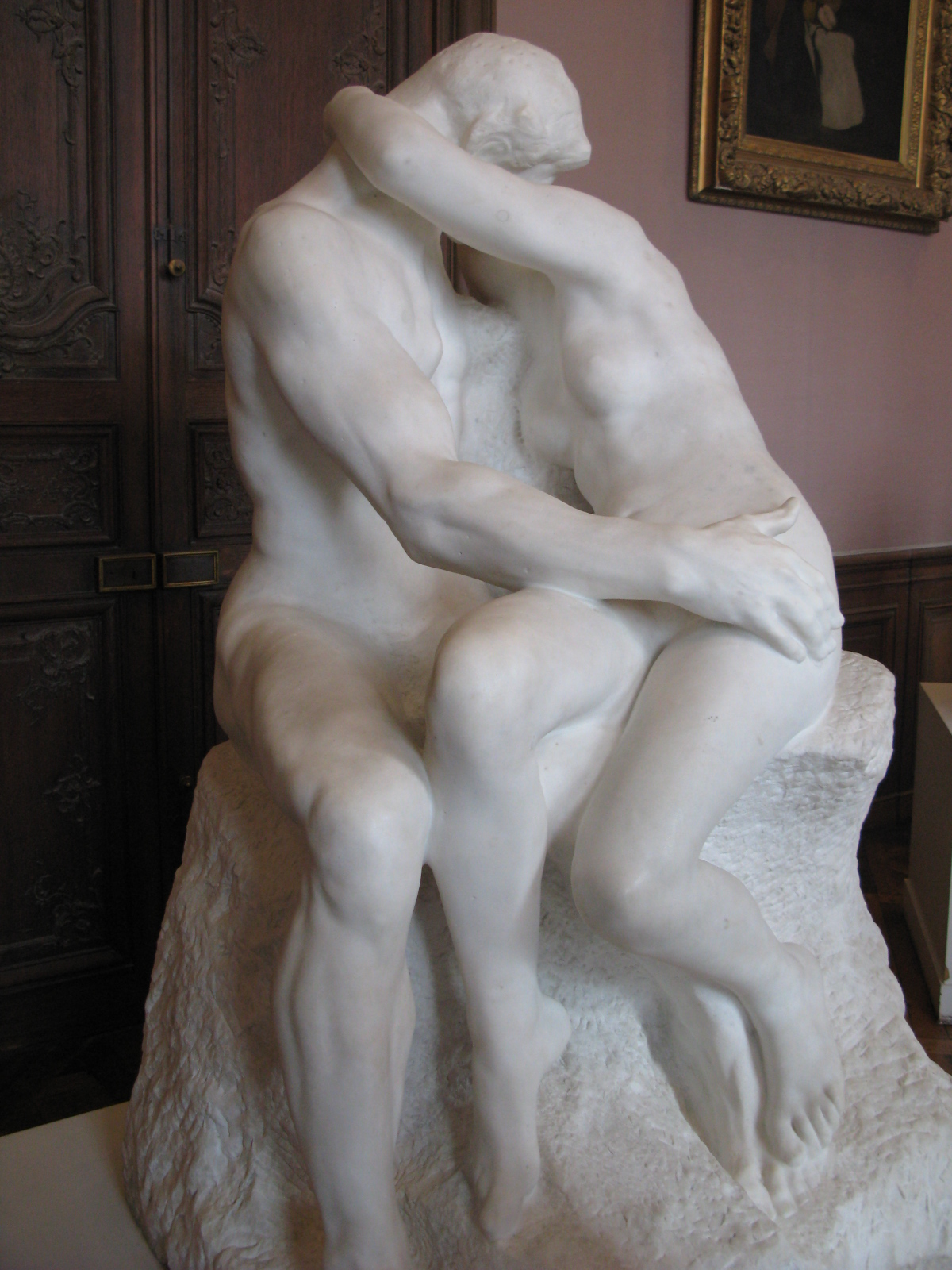 """the kiss marble sculpture work essay """"psyche revived by cupid's kiss"""" is a major work by 18th-century sculptor canova this marble sculpture whose theme is inspired by ancient mythology is displayed in the michelangelo gallery at the louvre museum."""