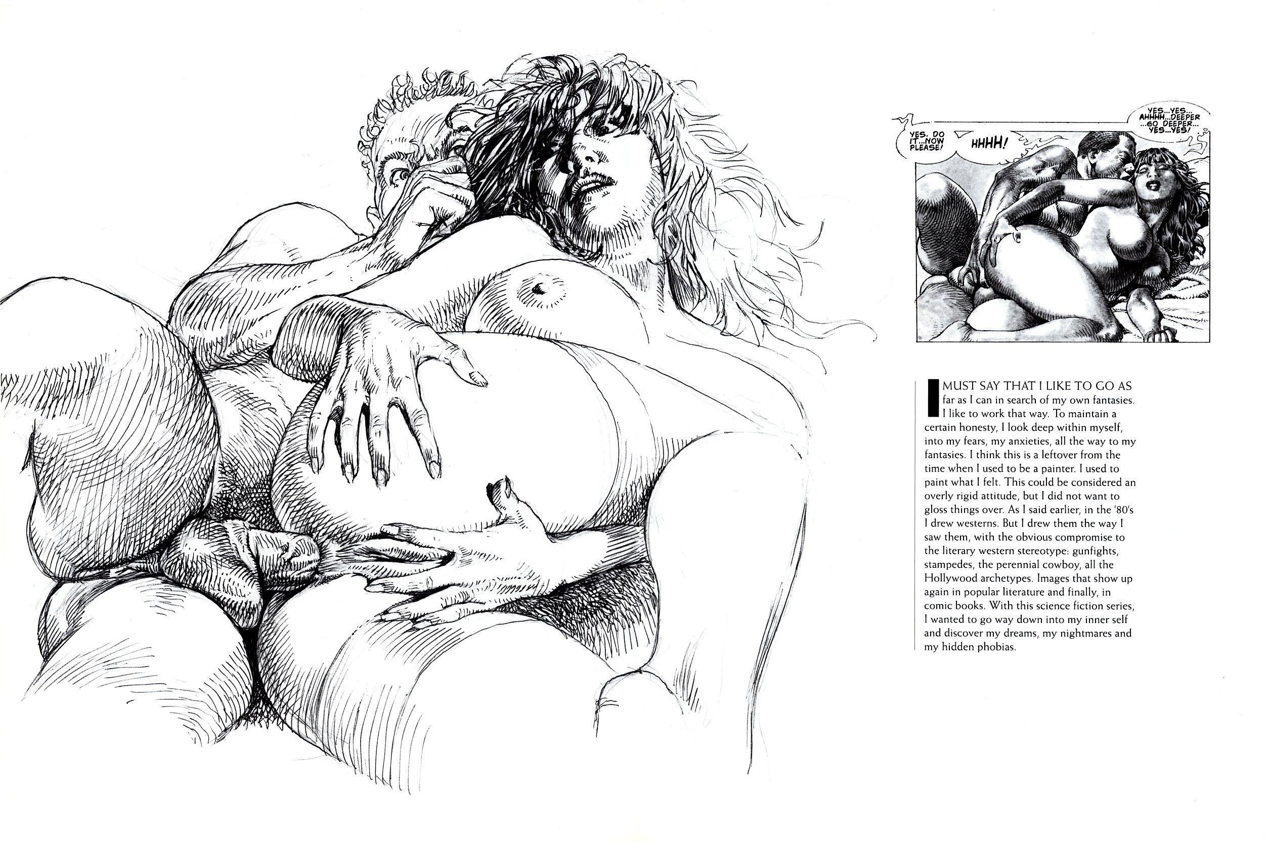 В рисунках эротика