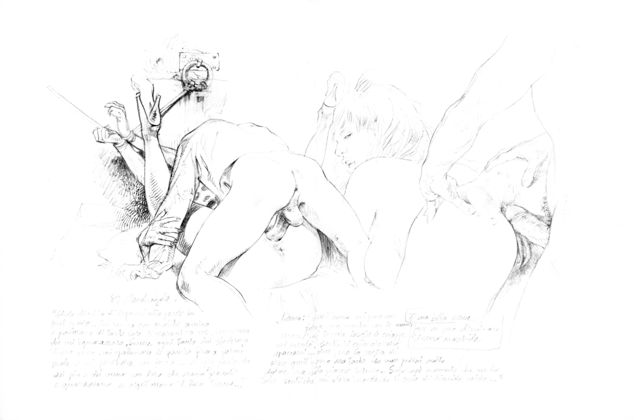 Порно рисунки художников сколько мусора