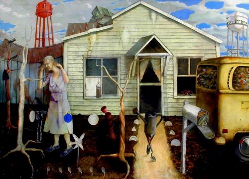 Польский художник - сюрреалист Henryk Fantazos (45 работ)