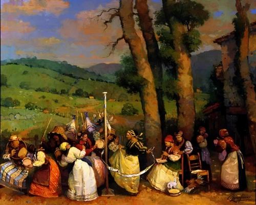 Народное гулянье Ignacio Larra (26 работ)