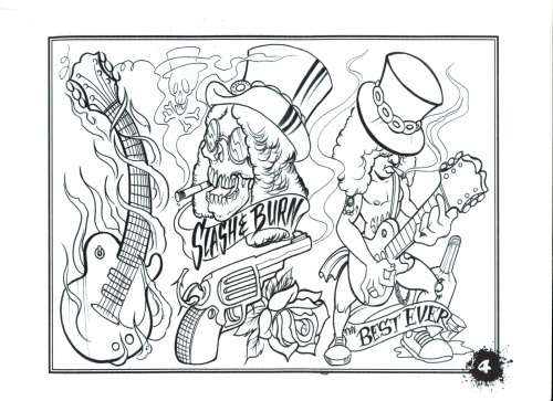 Tattoo Flash - Sheets + Lines set 16 (303 работ)