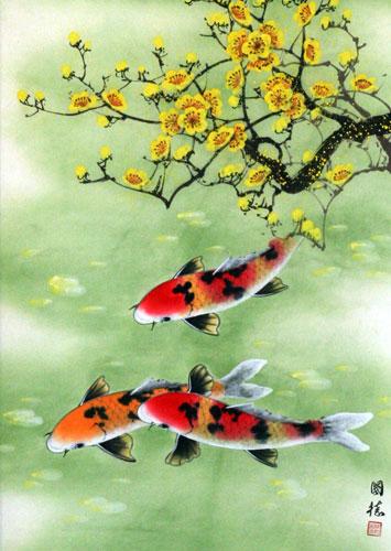 """Рыбы в китайской живописи (120 работ) """" Картины, художники, фотографы на Nevsepic"""