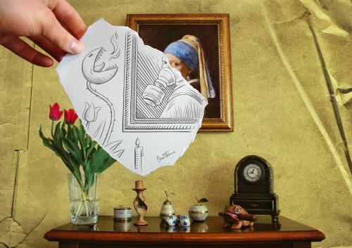 Ben Heine - художник, иллюстратор, портретист и фотограф. Новые работы (41 работ)
