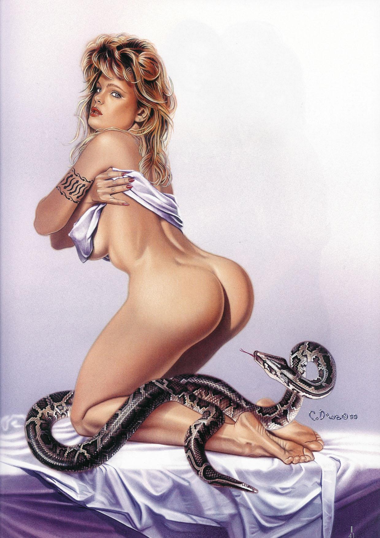 Реалистичные эротические рисунки 10 фотография