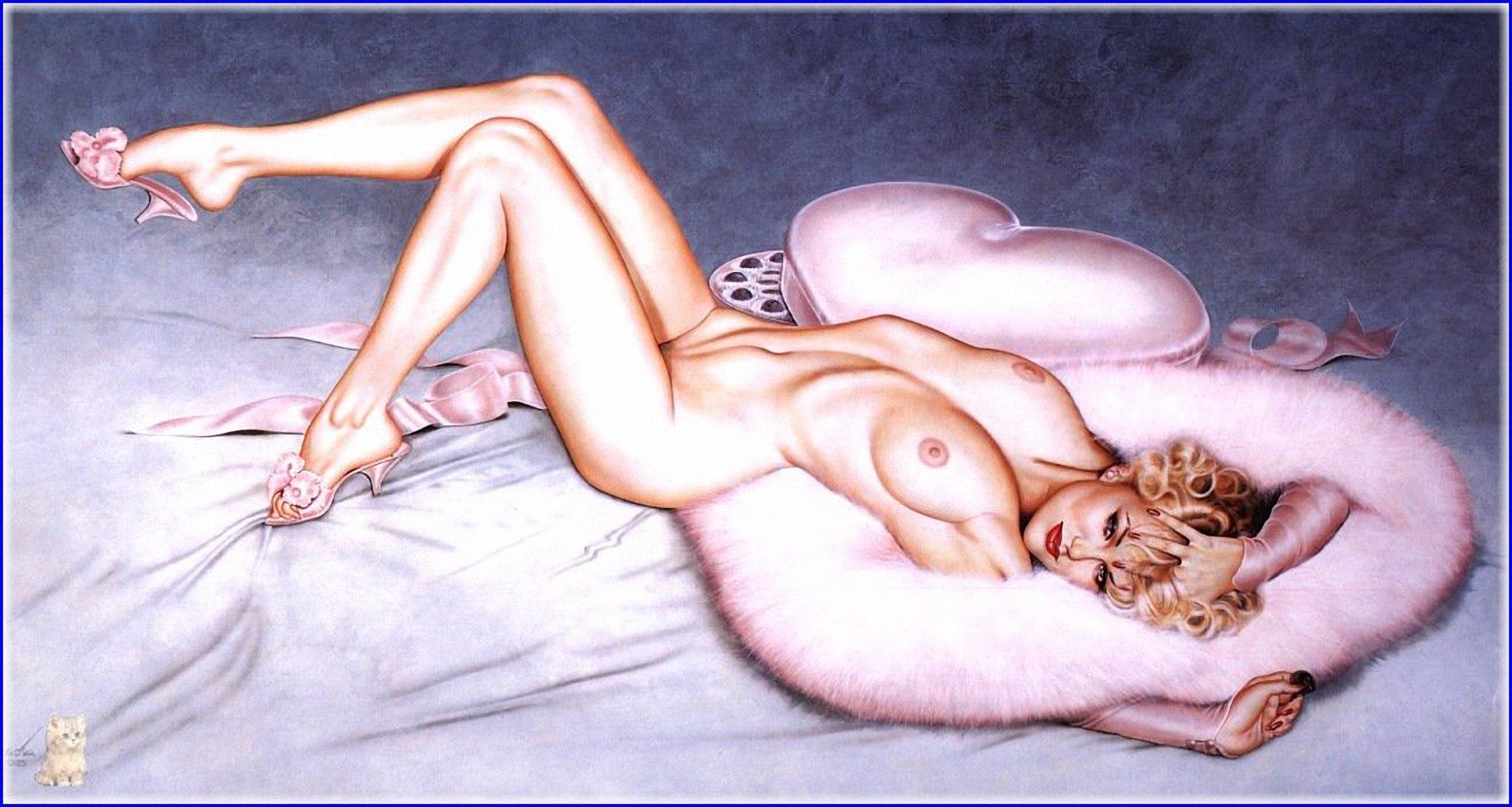 Эротические рисунки графика, Эротические рисунки девушек и женщин - голые картинки 5 фотография