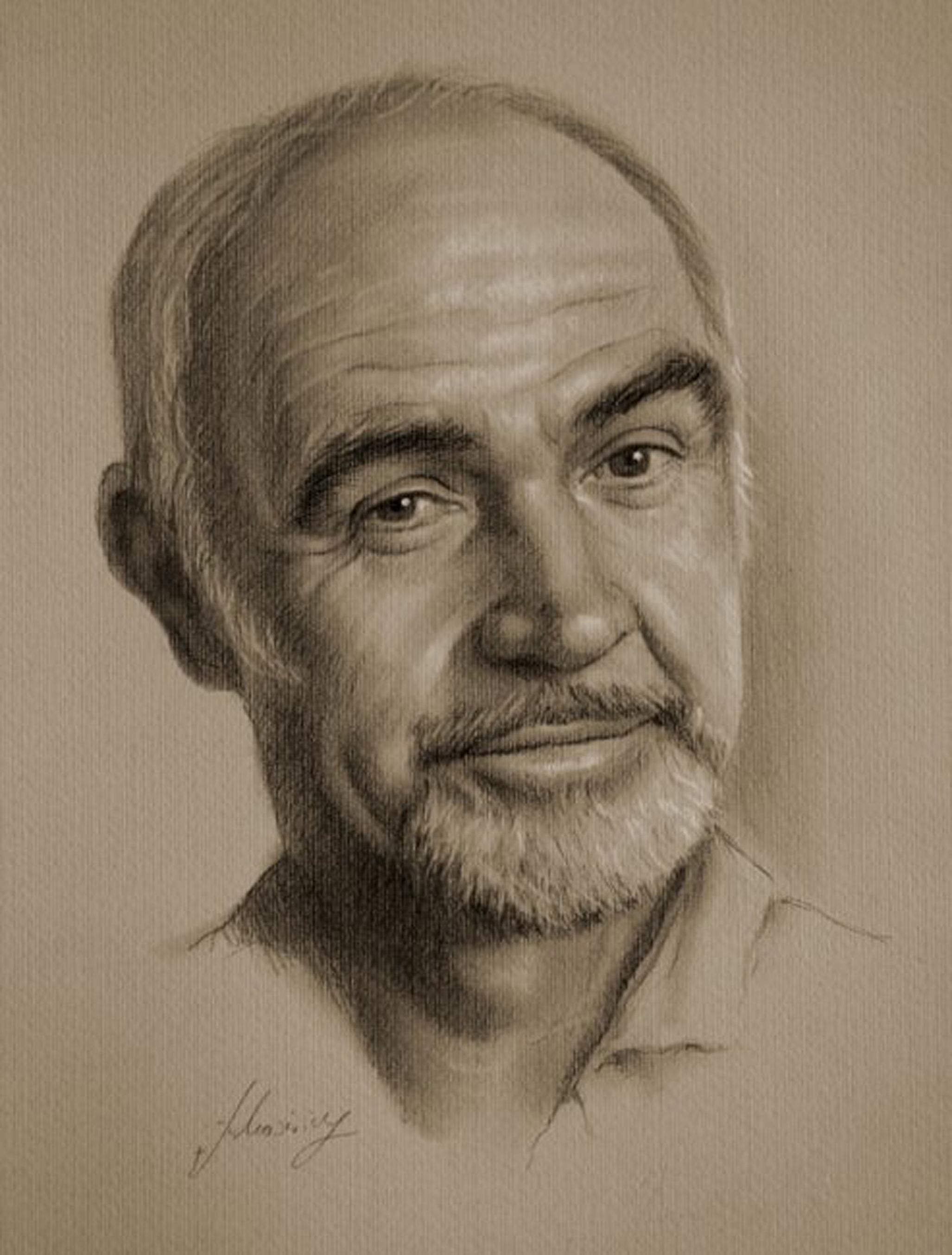 35幅好莱坞明星写实素描肖像