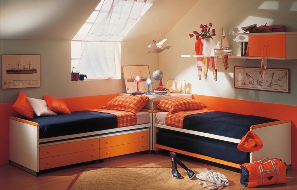 Дизайн спальни с двумя кроватями: оригинальные идеи