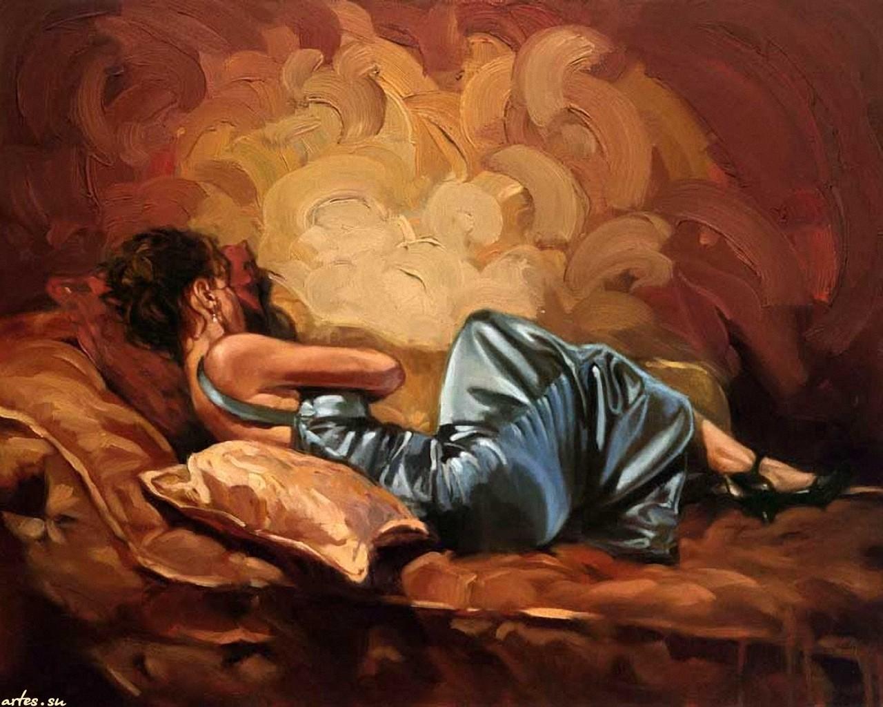Рисованные спящие девушки картинки 24 фотография