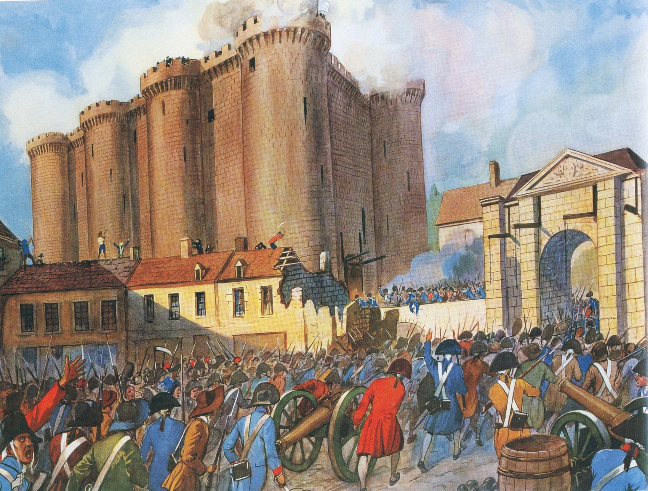 the storming of bastille part in french revolution