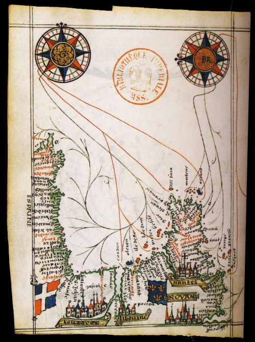 Старинные (XIII-XVIIIв) морские карты, диаграммы, гравюры, рисунки (180 работ) (2 часть)