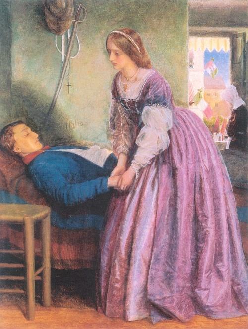 Английский иллюстратор и живописец Артур Хьюз (Arthur Hughes) (99 работ)