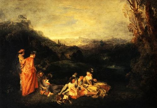 Антуан Ватто | XVIIIe | Antoine Watteau (125 работ) (2 часть)