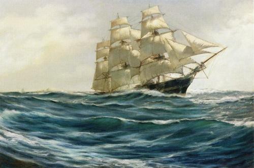 Художник -маринист Montague Dawson (84 работ)
