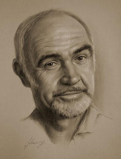 Рисунки в карандаше знаменитых голливудских актеров (35 работ)