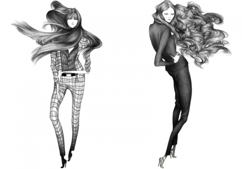 Laura Laine's (Лора Лэйн ) Fashion Illustrations (57 работ)