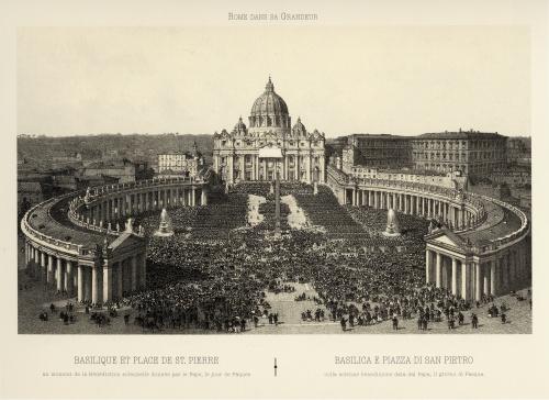 Виды Рима XIX века. Серия гравюр (12 работ)